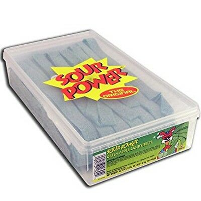 Green Candy Buffet (DORVAL SOUR POWER GREEN APPLE CANDY BELTS 150ct, 2 Pounds Box, Candy Bar)