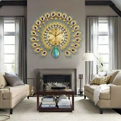 3D Peacock Style Wall Clock