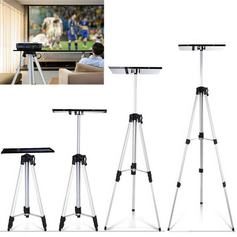 "Aluminum Tripod Projector Stand 21""~54"" Adjustable Laptop Computer Video Holder"