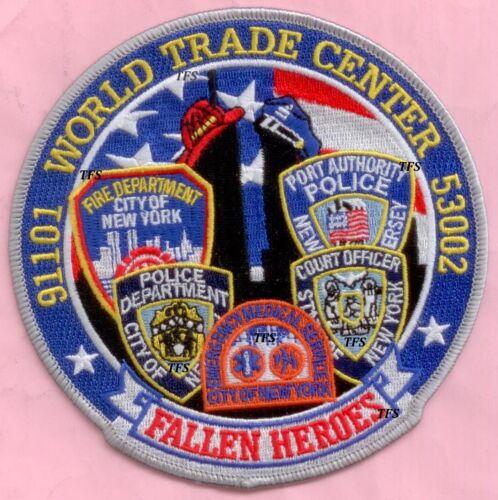 New York City Fire Dept WTC Fallen Heroes Patch 9-11 blue