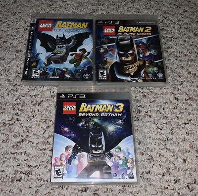 LEGO Batman 1 2 3 Playstation 3 PS3 Lot Bundle DC Super Heroes Beyond Gotham
