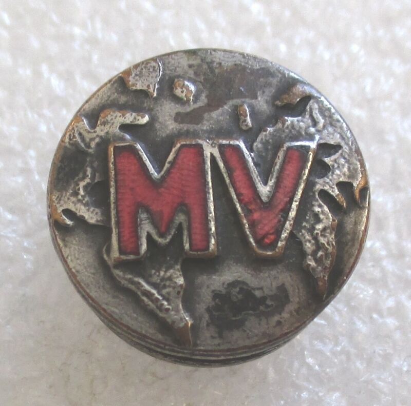 Antique Missionary Volunteer Society MV Member Lapel Pin - Adventist Pathfinders