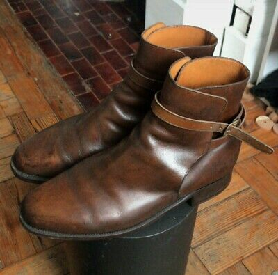 Mens J.M. Weston Jodphur Brown Ankle Boots Size 8UK / 43FR
