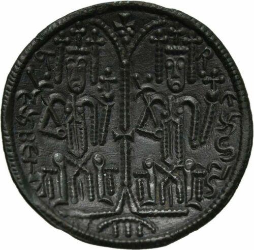 Hungary Bela III 1172-1196 scyphate bronze-Madonna Jesus- Nice