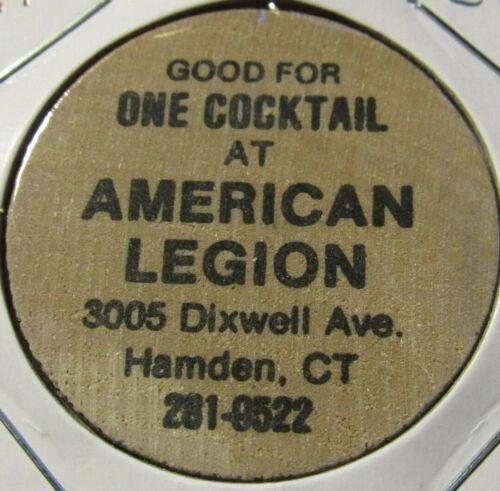 Vintage American Legion Hamden, CT Wooden Nickel - Token Connecticut