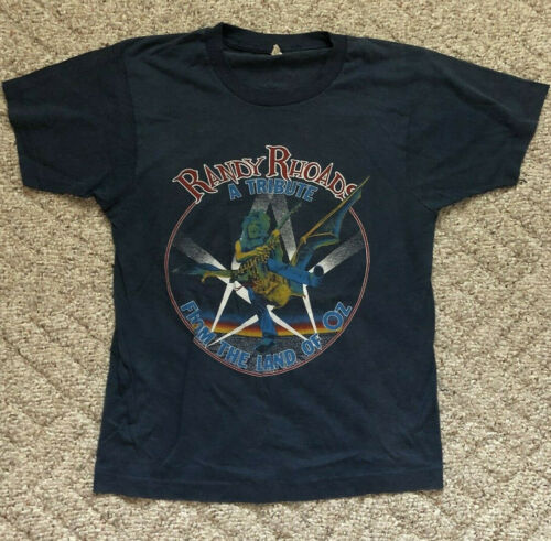 Vintage Randy Rhoads Tribute Shirt from the 80