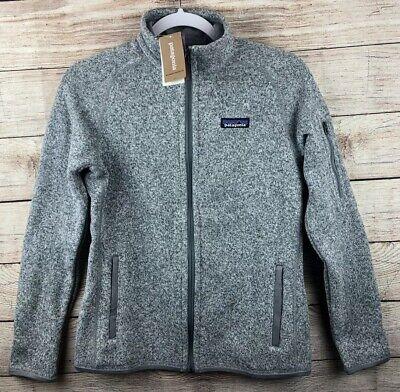 Patagonia Better Sweater Fleece Jacket Full Zip Womens XS Birch White (Gray)