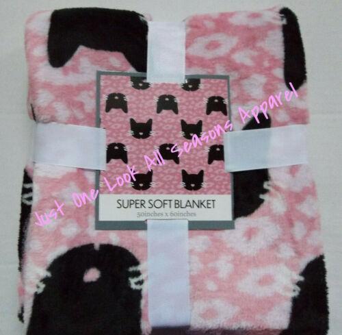 "Black Cats Super Soft Blanket 50"" x 60"" ~ New"