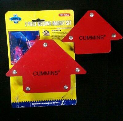 2pc Welding Arrow Magnet Set Weld Holder Up To 25 50 Pounds Cummins 5153
