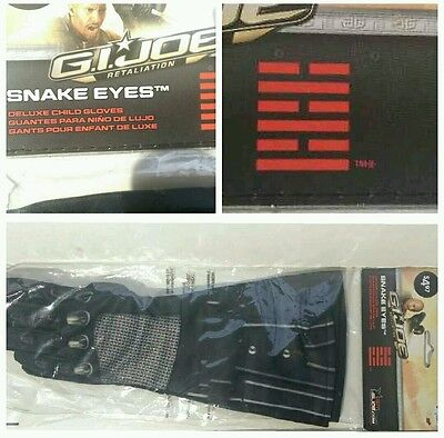 Gi Joe Snake Eyes Deluxe Kinder Cyber Ninja Verkleidung Handschuhe (Gi Joe Kinder Kostüm)