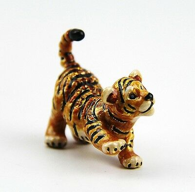 Jay Strongwater Nathan Mini Tiger Figurine With Box New