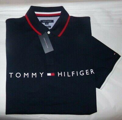 NWT MENS Tommy Hilfiger S/S Polo Shirt~NAVY~XXL