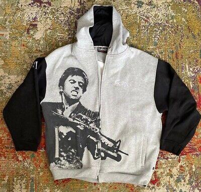 Mens Scarface Clothing Company Full Zip Hoodie Hooded Sweatshirt 2xl-Please Read