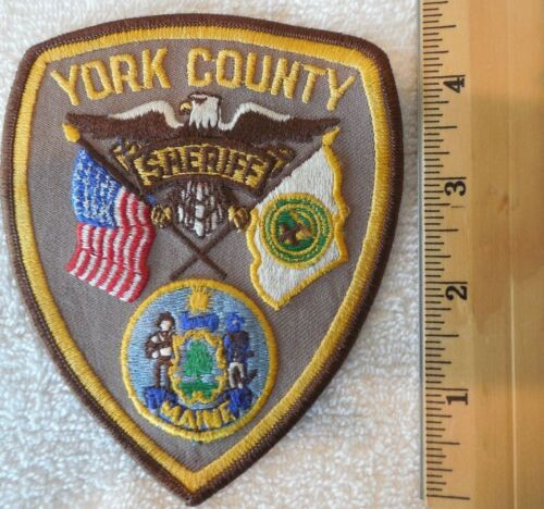 YORK COUNTY MAINE SHERIFF PATCH (HIGHWAY PATROL, SHERIFF, STATE)