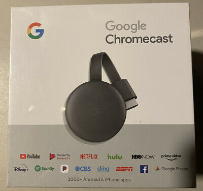 Google Chromecast (3rd Generation) HDMI Streaming Media Player Charcoal