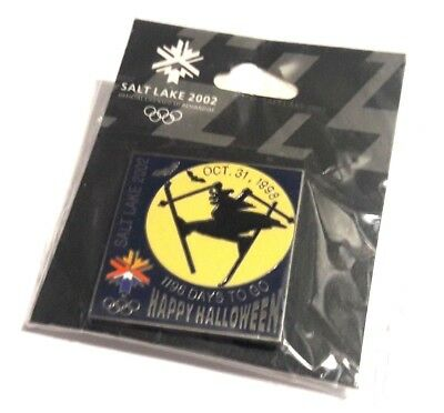 Halloween Salt Lake City (NEW SEALED SALT LAKE CITY UTAH 2002 OLYMPIC HAPPY HALLOWEEN 1196 DAYS TO GO PIN)