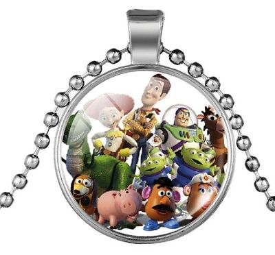 Toy Story Characters Glass Domed Metal Pendant NECKLACE