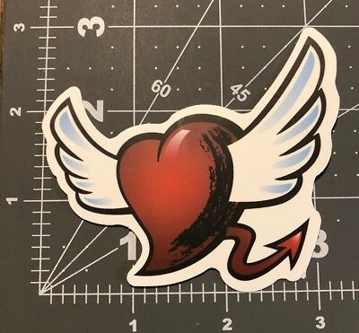 Flying Heart Adult Humor Skateboard /Laptop/ Guitar Decal Sticker - Flying Heart