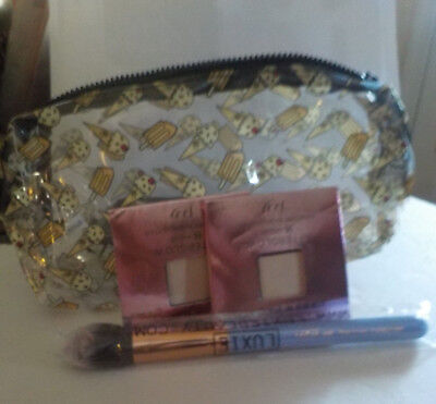 2 Urban Decay Afterglow Highlighter~Luxie Dream Catcher 660 Brush~Bag~ Best