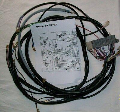 Sistema Eléctrico Eléctrica Alambrado Vespa Pk 50 FL2 Modelo V