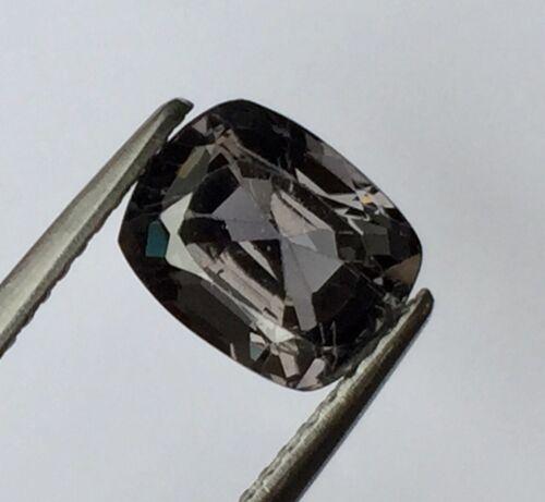 VS 2.26 ct.8.5x6.8x4.9 m.Cushion Gray Natural Spinel Mogok >> Gemstones