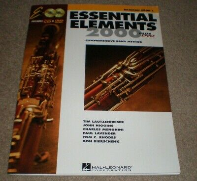 Essential Elements 2000 Bassoon Book 1 Plus Play Along CD & DVD NEW 2000 Bassoon Book