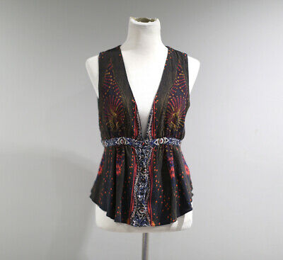 Free People Top Womens Size Large Sleeveless Cut Out Back