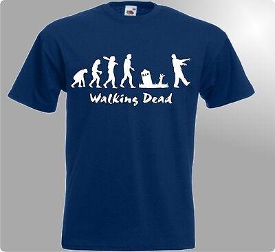 WALKING DEAD Kult T-Shirt EVOLUTION ZOMBIE SERIE für Grimes Darly Dixon Fans