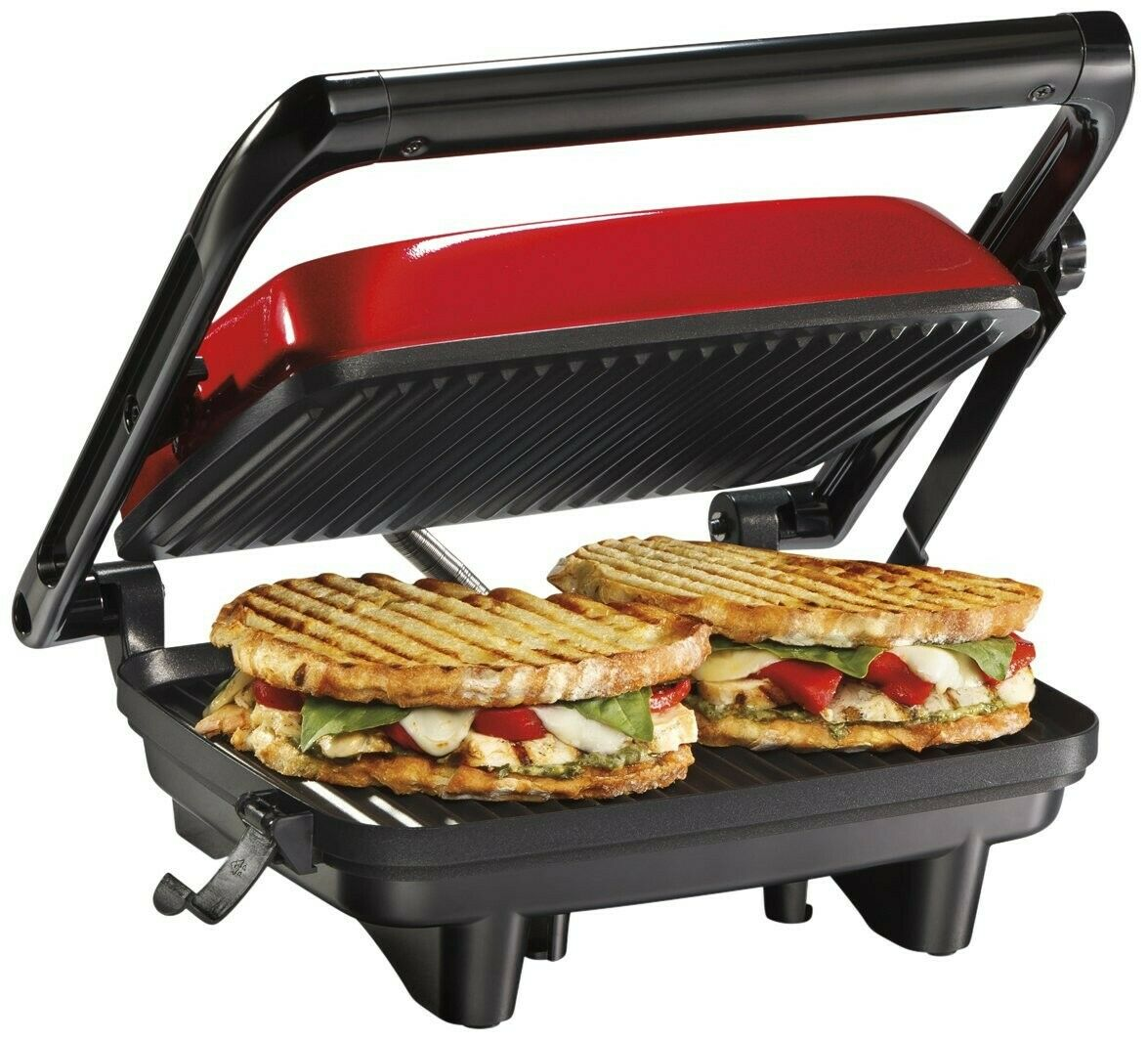 Hamilton Beach Electric Panini Press Grill With Locking Lid,