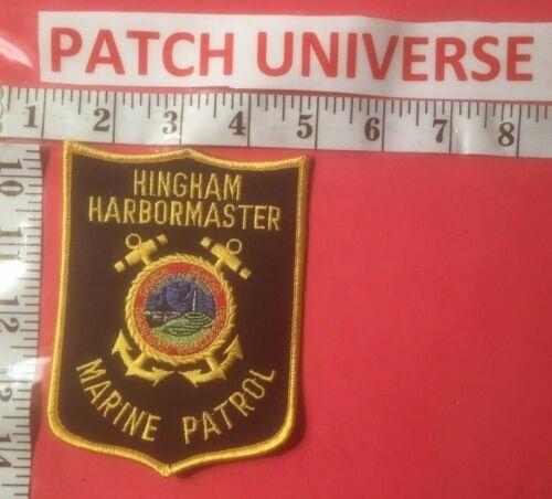 HINGHAM HARBORMASTER MASS MARINE PATROL SHOULDER PATCH E108