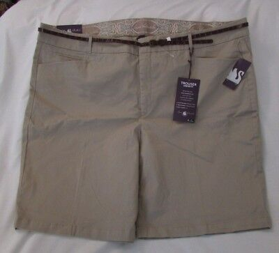 Ladies Gloria Vanderbilt Trouser Shorts w/ Belt, Size 24W, Biscuit Color,  for sale  Shipping to India
