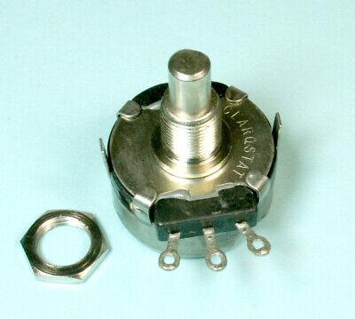 1pc Clarostat Linear Taper Potentiometer 10k Ohm 2 Watts 14 Shaft Cm47163