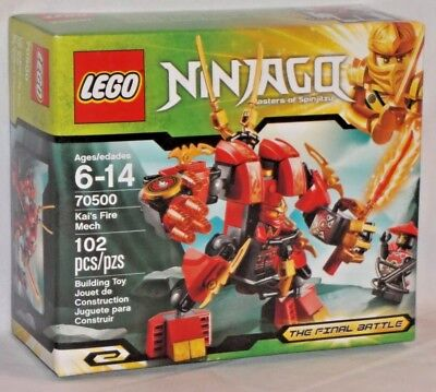 Ninjago Red 102 Retired Fire Kai's Final 70500 Mech Lego Sealed Battle Pc Ninja 8wPOn0XNZk
