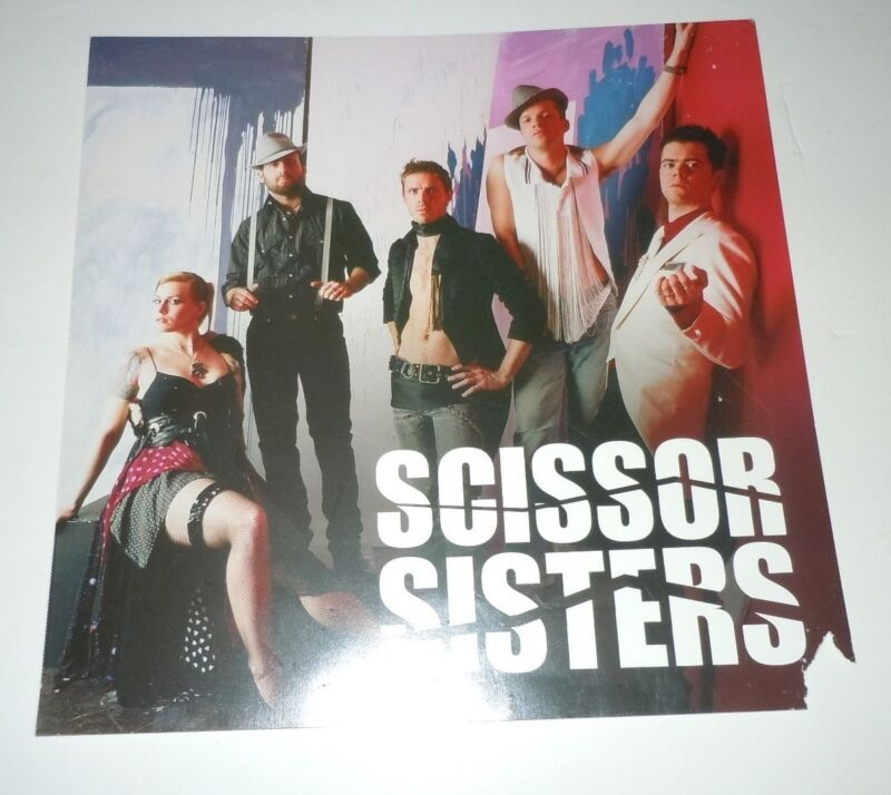 SCISSOR SISTERS~Promo Poster Flat~12x12~Double Sided~2004