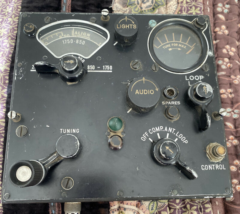 WW2 Radio Control Unit, BC-434-A, of SCR-269 Automatic Compass, B-17 B-24 B-29