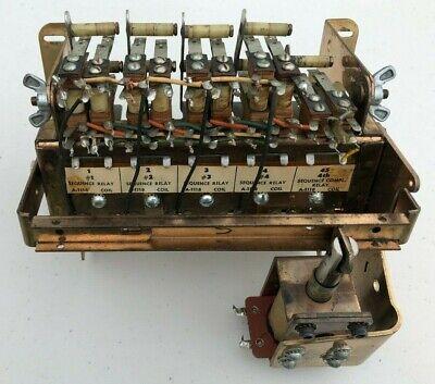 Gottlieb 1971 4 Square EM pinball machine relay bank assembly