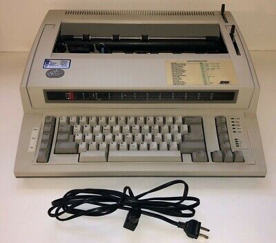 Ibm Personal Wheelwriter Typewriter 6781 With Power Cord And Dust Cover-used