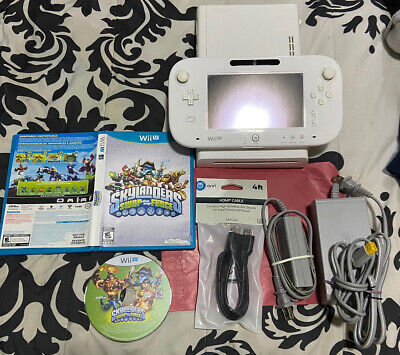 Nintendo Wii U WHITE Console System Complete - Bundle TESTED/WORKING- Free Game!