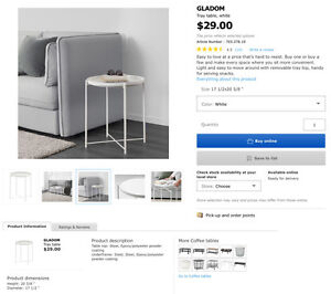 IKEA Side Table in White