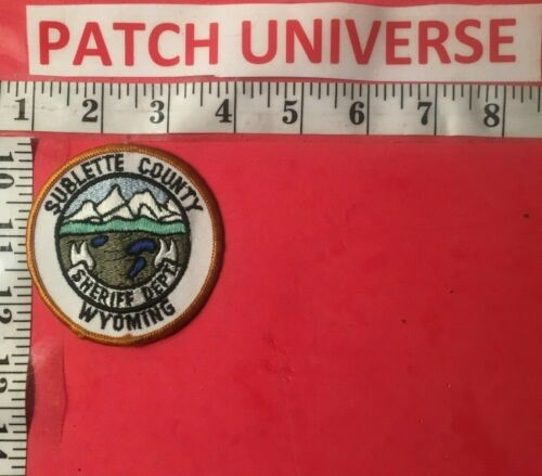 SUBLETTE COUNTY  WYOMING  SHERIFF  SHOULDER PATCH  G014