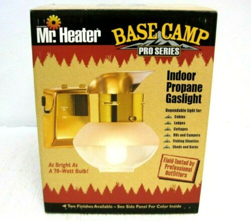 New Mr. Heater Base Camp Pro Series Indoor Propane Gaslight Gray FAST SHIPPING!!