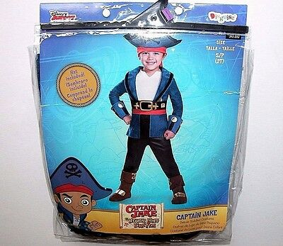 NWT NEW Halloween Costume Disney Captain Jake Never Land Pirates 2T