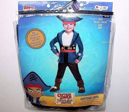 NWT NEW Halloween Costume Disney Captain Jake Never Land Pirates 2T