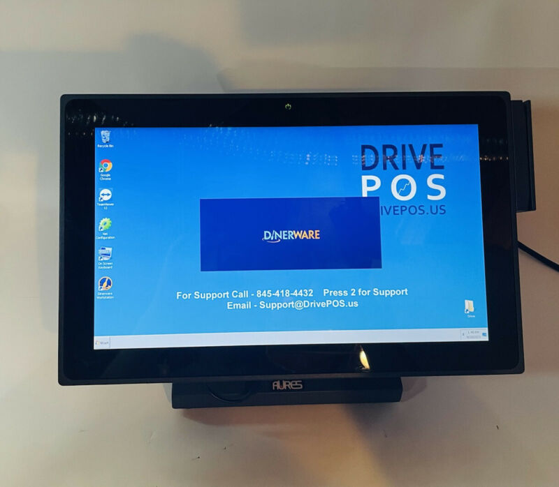 AURES J2-240 POS Point of Sale Touch Screen Terminal Credit Card Reader Stand