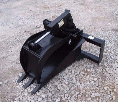 Bobcat Skid Steer Attachment - Heavy Duty Stump Tooth Bucket Grapple - Free Ship