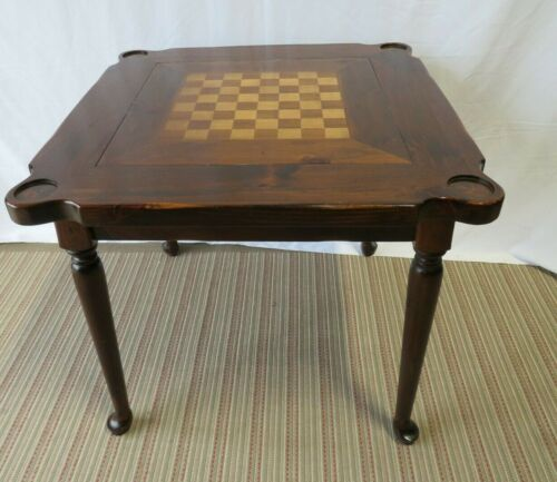 Ethan Allen Antiqued Pine Game Table 12-9012