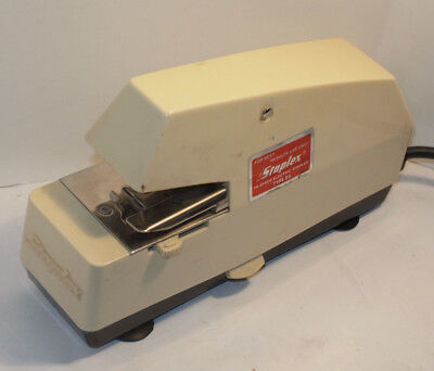 Staplex St Executive Electric Stapler Adjustable Depth Easy Load Made In Usa