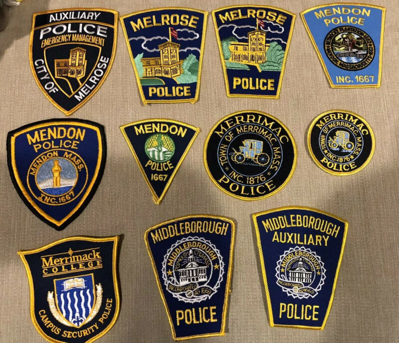 Massachusetts Police Patch Lot of 20 M's