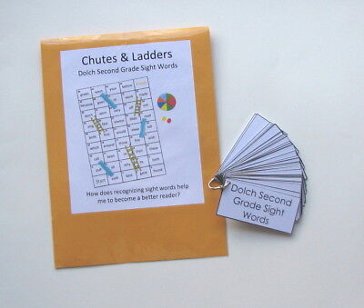 2 Teacher Created Activities Dolch 2nd Grade Sight Words Game & Flashcard (2nd Grade Dolch Sight Words Flash Cards)