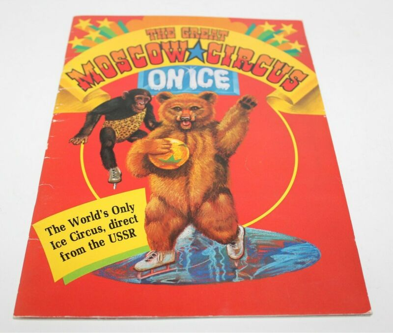The Great Moscow Circus On Ice Program Book Programme 1984-1985